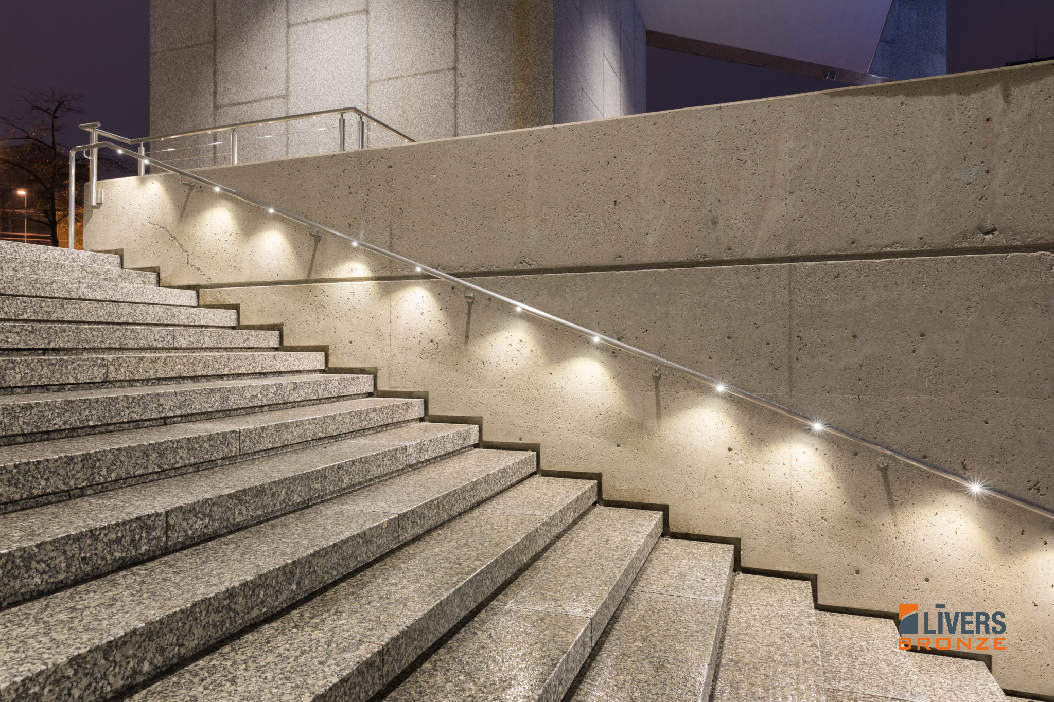 Led Handrail Materials Livers Bronze Railing Systems